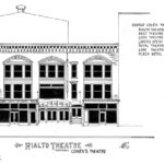 Architectural Sketch of the Rialto Theatre