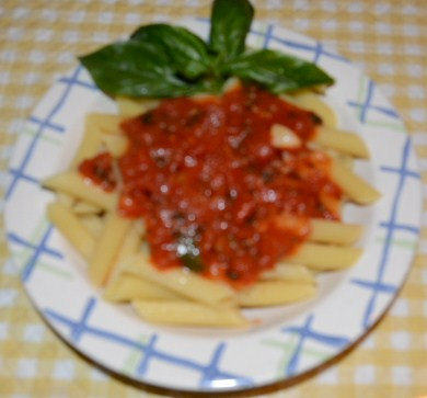 penne with marinara