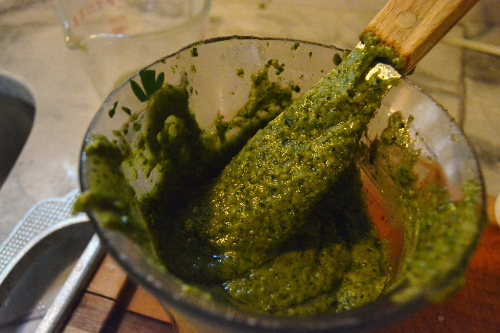 creamy blended pesto